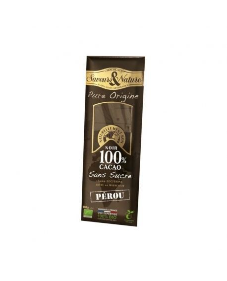 tableta de chocolate negro 100% cacao