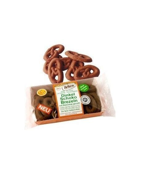 galletas Pretzels de chocolate y espelta Werz