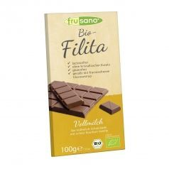 Tableta de chocolate con leche Frusano PACK 10 unidades