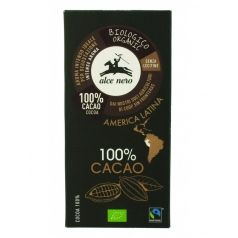 Tableta de chocolate 100% puro cacao Alce Nero