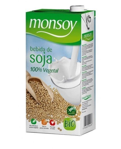 Bebida de soja natural Bio 1 l Monsoy