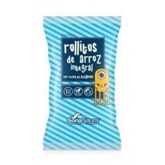 Snack rollitos arroz y crema chocolate
